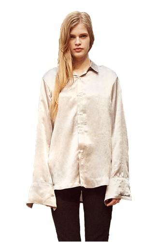 17SS銀絲襯衫, 服飾,esprit 床上用品 上衣