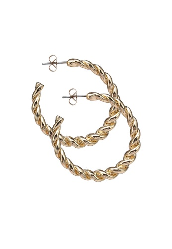 Pieces gold Majse Hoop Earrings 89455ACC74C43AGS_1