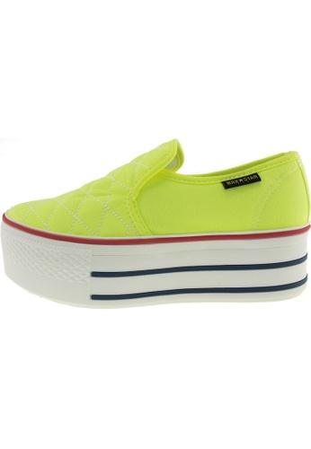 Maxstar 綠色 新款韩国鞋C50-Stitch時尚帆布布混合女綠色 US Women Size MA345SH65HVMTW_1