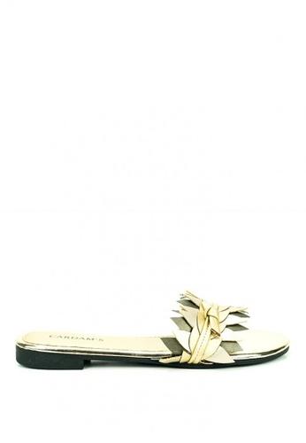 Cardam's Lifestyle gold Rine Flat Sandals 99542SH2073DC1GS_1