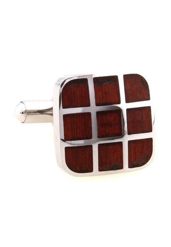 The Little Link Cufflinks brown Wood Tic Tac Toe cufflinks TH089AC0FSWJSG_1