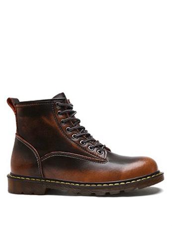 Twenty Eight Shoes 褐色 時尚皮革中筒靴 VMB89027 A3B97SH616F9B1GS_1