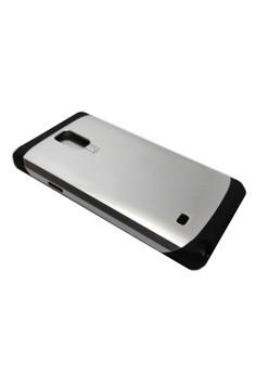 Sleek Shockproof Case for Samsung Note 4 (Silver)