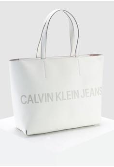 3560f26b1d 35% OFF Calvin Klein Zipper Tote 2 With Logo - Calvin Klein Accessories HK   1
