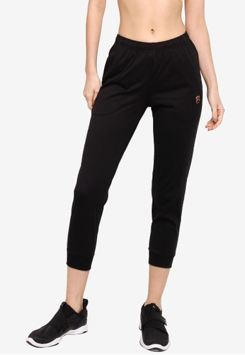 361° black Sports Life Knit Cropped Pants 52E0FAAC162C8CGS_1