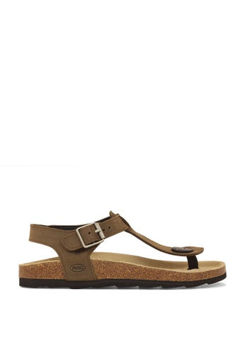 ROC Boots Australia brown Byron Brown Sandal RO289SH53BPQSG_1