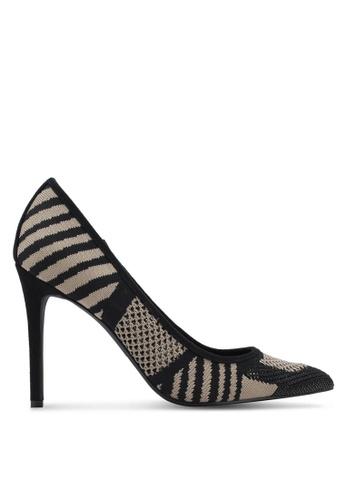 ZALORA black Knitted Fabric Heels 3E033ZZ2E2CEC8GS_1