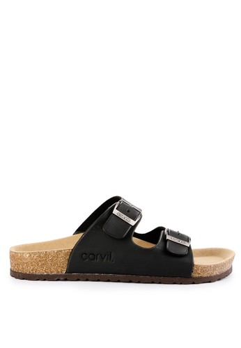CARVIL black and multi Carvil Sandal Footbed Man Jaden-02 Black CD189SH8E360E5GS_1