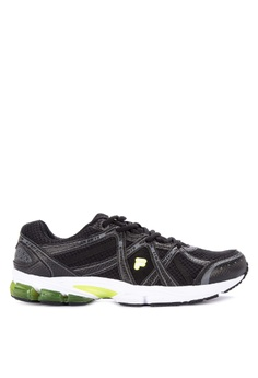 cheap for discount 47ef0 39627 Fila black Motivator Running Shoes 969C7SHEC4228AGS1