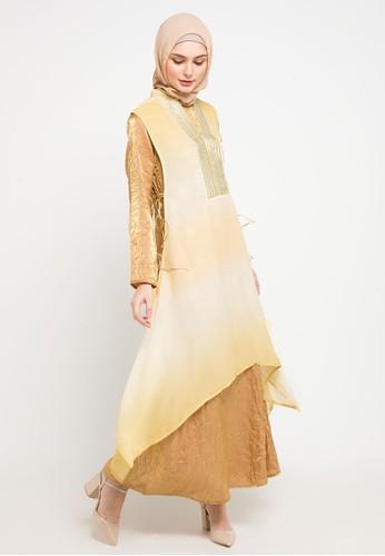 AZZAR yellow Elakshi Maxi Dress DD1AEAA937D7B5GS_1