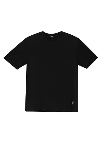 UniqTee black Slim Crew Neck Tee 707CDAA8552629GS_1
