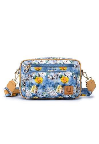 ULA ULA blue ULA ULA Blossom Morning Cross Body Bag with Leather Trim (RFID Pocket Inside) 6E59CACE2DA451GS_1