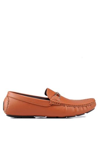 Rocklander 褐色 雕紋樂福鞋 B02D1SH811D2EFGS_1