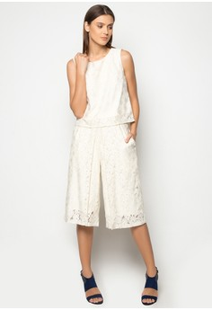 Blouse And Culottes Set