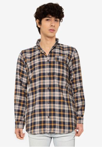 JACK & JONES yellow Emmerson Long Sleeves Shirt 3E541AAE0101A5GS_1