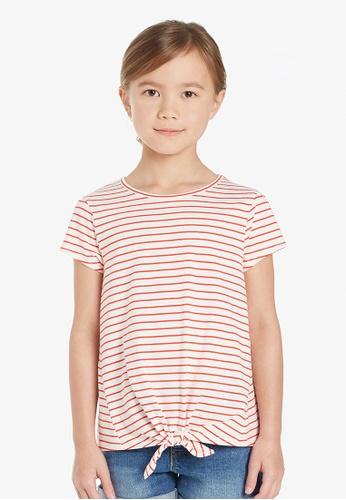 Gen Woo white Striped Casual T-Shirt By Gen Woo 07AC2KA4084C5EGS_1
