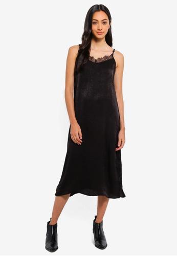 Cotton On black Woven Audrey Lace Midi Slip Dress 0BDBDAACC1C500GS_1