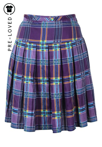 Marc By Marc Jacobs purple Pre-Loved marc by marc jacobs Purple Plaid Skirt 1C38AAA0107432GS_1