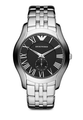 ARMANI silver Silver Steel/Black Armani AR1706 Watch AR024AC82MVXMY_1