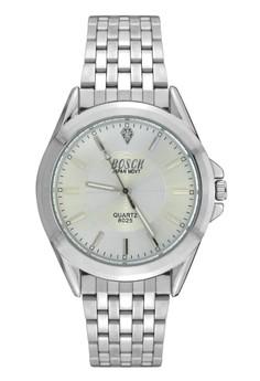 Bosck Men's Round Dial Stainless Steel Wrist Watch 8025
