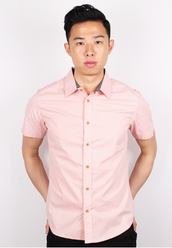 Moley pink Design Patterned Short Sleeve Shirt MO329AA0GMQYSG_1