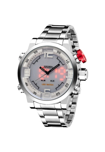 Greatnes Trading Corp silver OS-AD1608 LED Display Men's  Stainless Steel Watch GR861AC82GDXPH_1