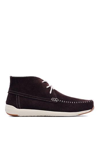 MIT。羽量級。細絨牛皮。簡約短靴-09347-咖色esprit門市, 鞋, 靴子