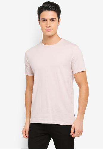 Burton Menswear London pink Light Pink Crew Neck T-Shirt BU964AA0T1HAMY_1