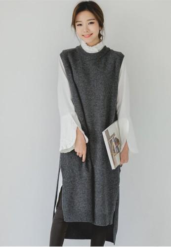 無袖針織連衣裙, 服飾esprit china, 及膝洋裝