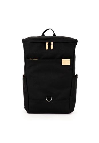 Harvest Label black Harvest Label Pocket Backpack - Black EC9E1ACF1A2375GS_1