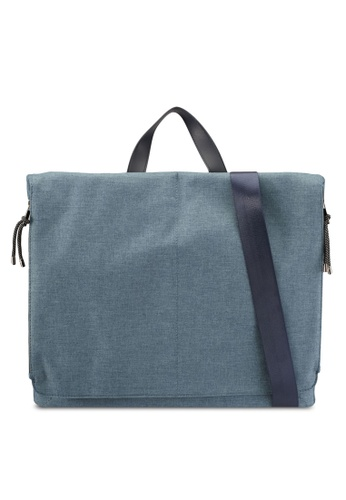 ZALORA blue Slim Portfolio Bag 63A6BACF4611BEGS_1