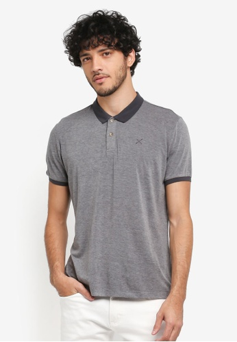 JAXON grey TWO BUTTONS POLO C9DE5AA1B359A4GS_1