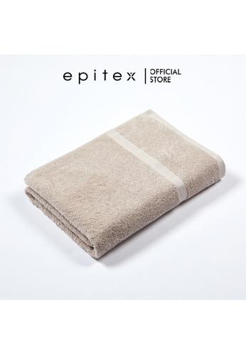 Epitex brown Epitex Sofuto 100% Cotton Bath Towel - Gym Towel Soft Towel - Comfortable Towel - Big Towel (Sand) 6BD0CHLA387698GS_1