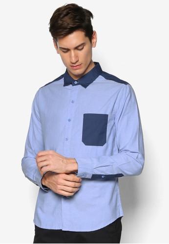 拼色長袖襯衫, esprit 見工服飾, 襯衫