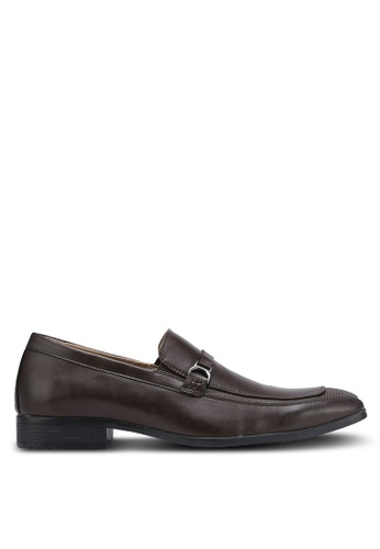 Bata brown Slip On Dress Shoes BA156SH0RCVQMY_1