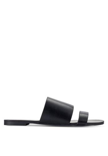 ZALORA 黑色 露趾涼鞋 C6BAASHC53A077GS_1