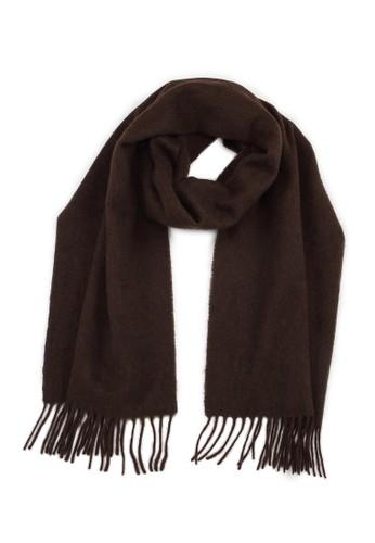絲原圍巾 - 深棕, 飾esprit香港門市品配件, 披肩