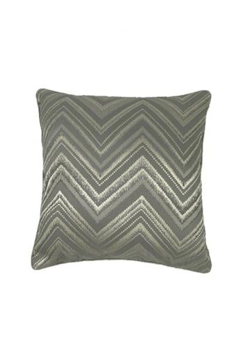 Maison Curio Mia Chevron Cushion Grey 553F5HLA175137GS_1