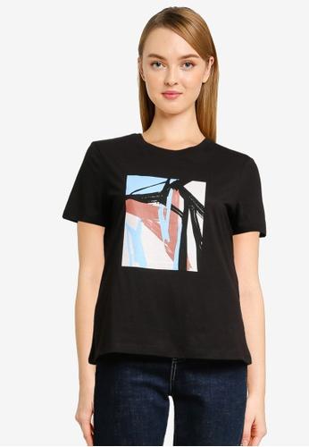 Vero Moda black Isla Short Sleeve Graphic T-Shirt 423ADAAE985EC7GS_1