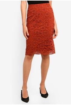0131831ca6 FORCAST orange Jemima Lace Skirt 30885AA1D74EBFGS_1