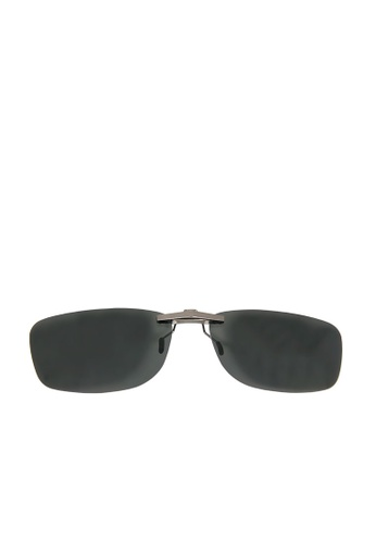 ASLLY black Night Moon│Clip On Black SunGlasses - Polarized Lens DD63AGL78D52A3GS_1