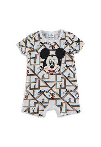LC Waikiki white Crew Neck Disney Baby Boy Jumpsuit 97385KAD100146GS_1