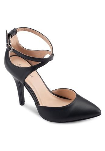 交叉繞踝尖頭高跟鞋, 女鞋, esprit 面試絕美洋裝