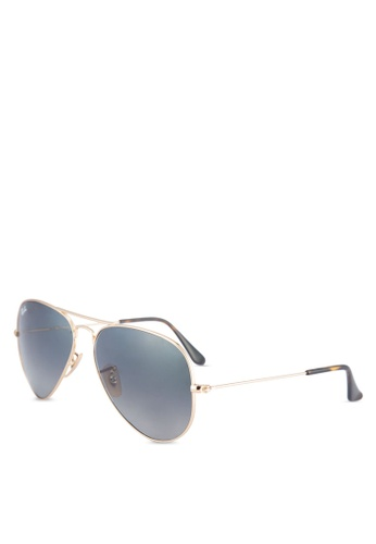 63272f7fba Ray-Ban gold Aviator Large Metal RB3025 Sunglasses RA896GL53ULUMY 1