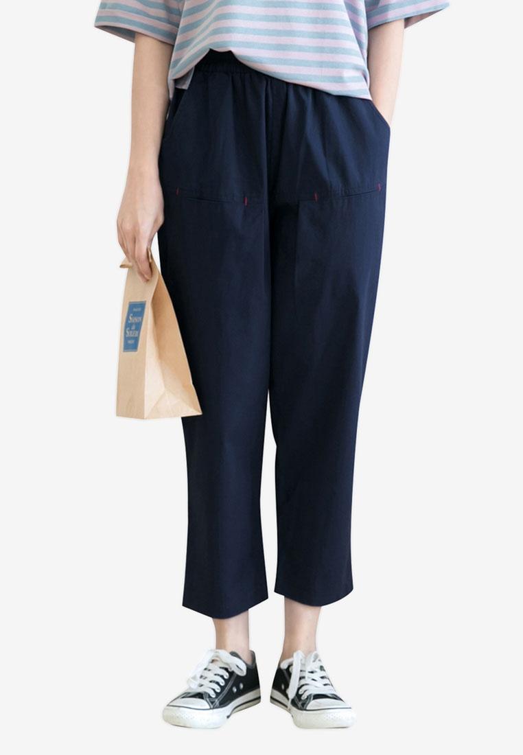 Blue Casual Dark Leg Pants Tokichoi Wide wTqnxPP