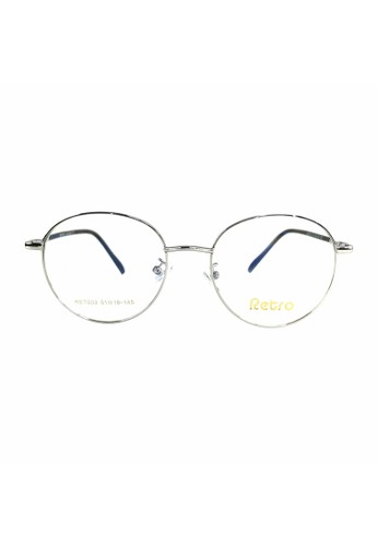 Ibrillen Optical silver RETRO RET003 Kacamata Bulat Korean Style - Silver A4EC2GL16EAAF7GS_1