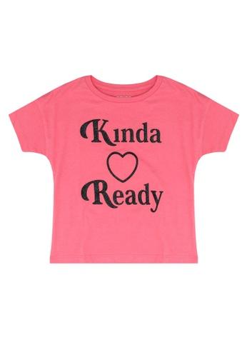 FOX Kids & Baby pink Graphic Print Tee B5E2AKA63A4245GS_1