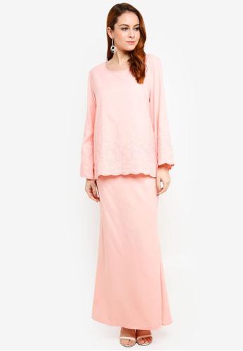 BYN pink Baju Kurung Modern D1847AAD9467F9GS_1