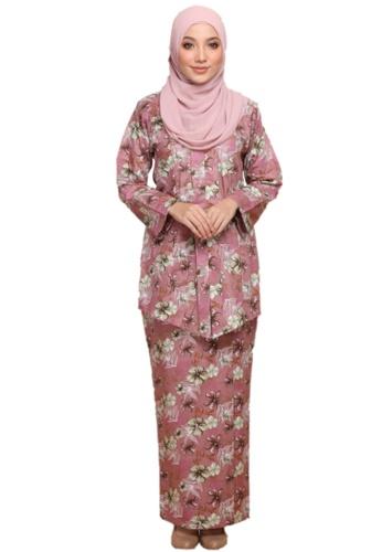 ANNIS EXCLUSIVE pink Kebaya Perlis (AE070KBP Dusty Pink) 8D4D5AA612A53DGS_1