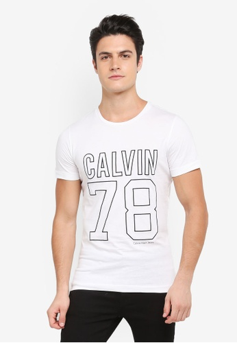 Calvin Klein white Slim Crew Neck Short Sleeve T-Shirt - Calvin Klein Jeans FA353AA85846F9GS_1